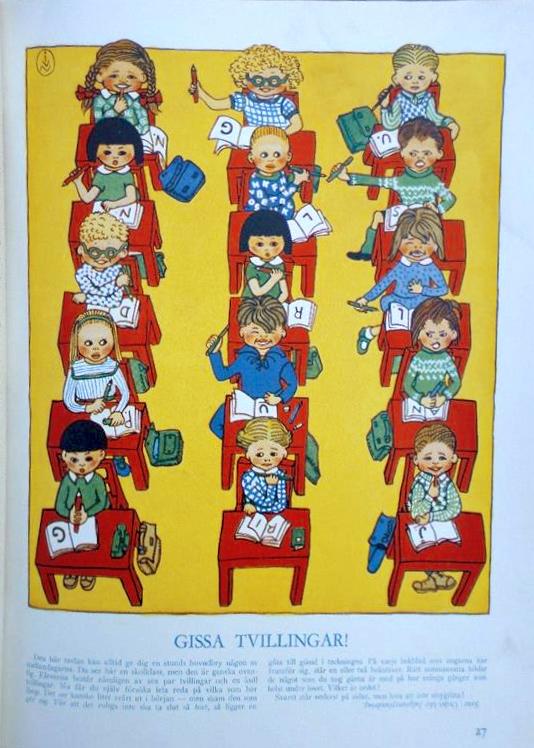 Husmodern Julnummer - Gissa Tvillingar - 1947