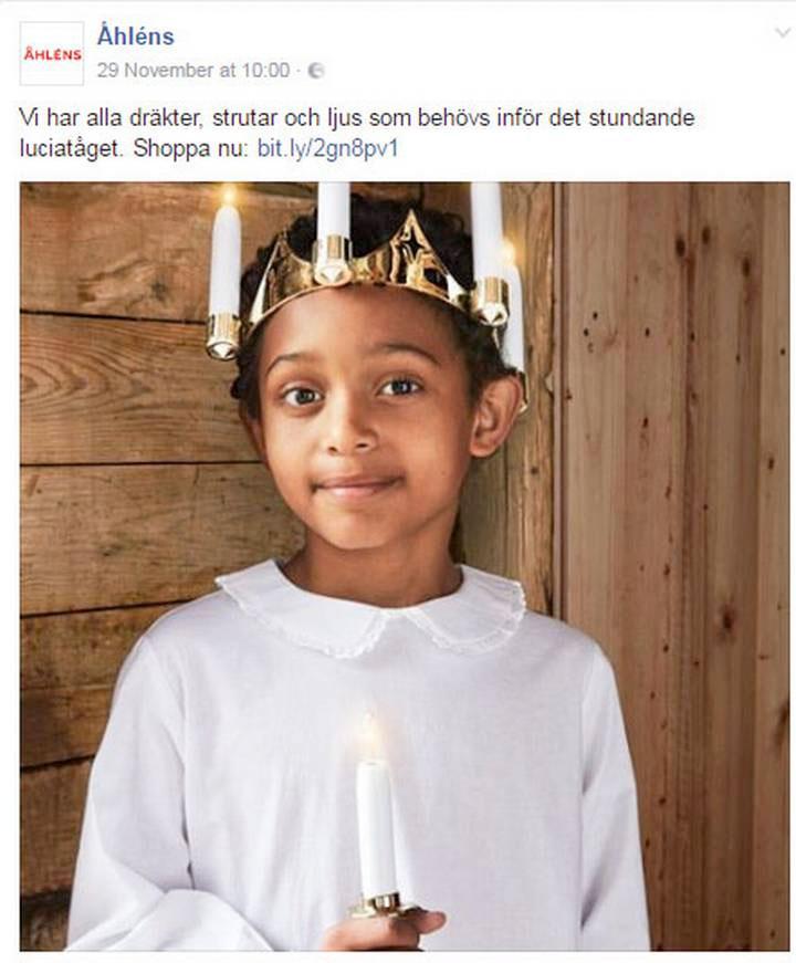 La santa Lucia della pubblicità di Åhlens